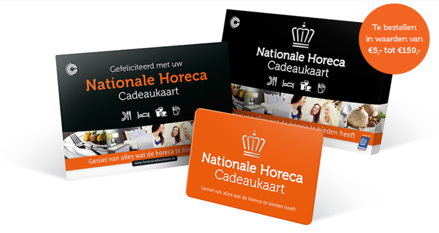Nationale Horeca Cadeaukaart - dé horeca cadeaukaart